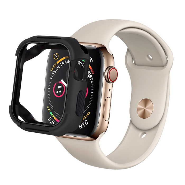 Coteetci PU+TPU Case For Apple Watch 4 44mm Black (7052-BK)