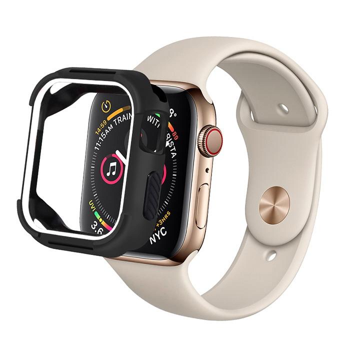 Coteetci PC+TPU Case For Apple Watch 4/5/6/SE 40mm Black + White (7051-BW)