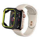 Coteetci PC+TPU Case For Apple Watch 4/5/6/SE 44mm Black + Yellow (7052-BY)