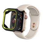 Coteetci PU+TPU Case For Apple Watch 4 44mm Black + Yellow (7052-BY)