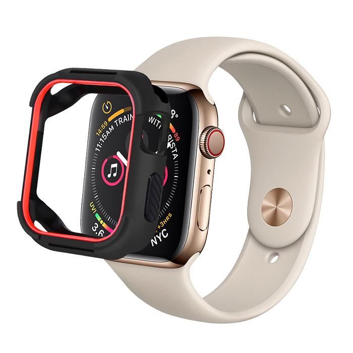 Coteetci PU+TPU Case For Apple Watch 4 40mm Black + Red (7051-BR)