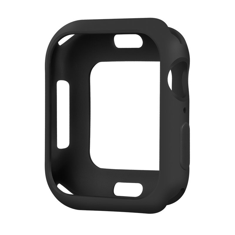 Coteetci TPU Case For Apple Watch 4/5/6/SE 44mm Black (CS7050-BK)