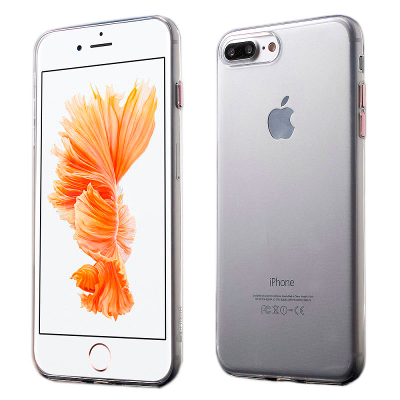 COTEetCI Utra-thin TPU Metal buttons for iPhone 7 Plus Rose Gold