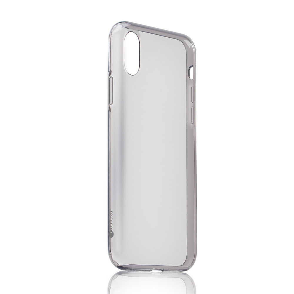 COTEetCI Utra-thin TPU Case for iPhone X/XS Transparent Black (CS8003-TK)