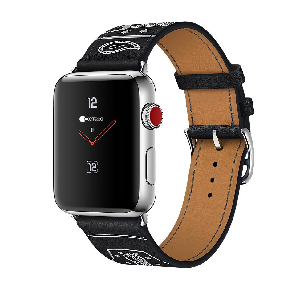 COTEetCI Fashion W13 Leather for Apple Watch 38mm Black (WH5218-BK)