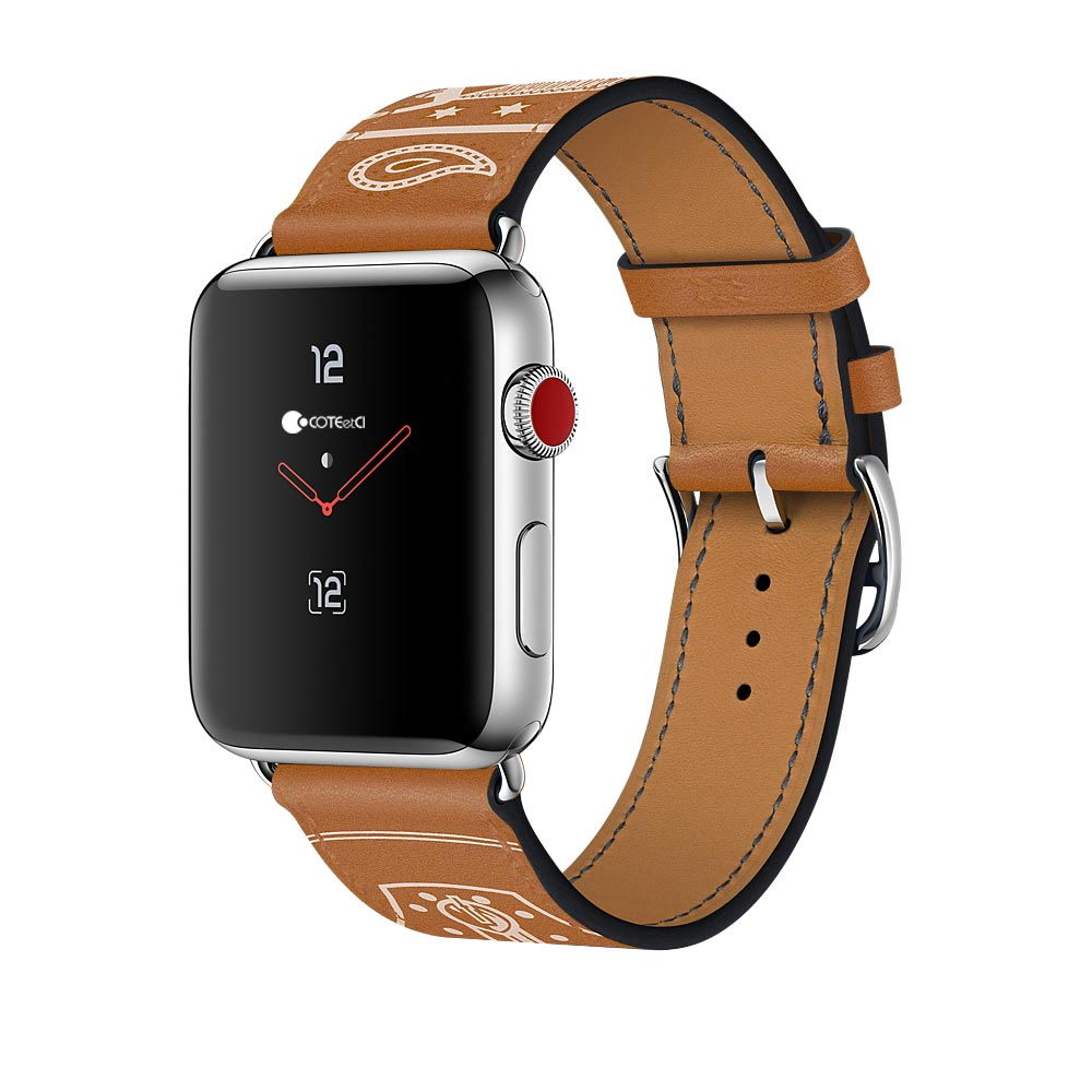 COTEetCI Fashion W13 Leather for Apple Watch 38mm Brown (WH5218-KR)