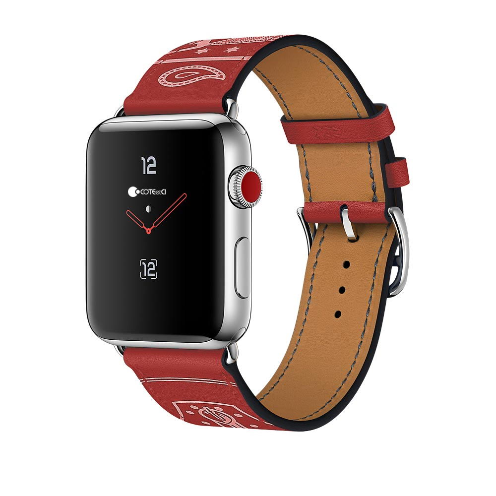 COTEetCI Fashion W13 Leather for Apple Watch 38mm Red (WH5218-RD)