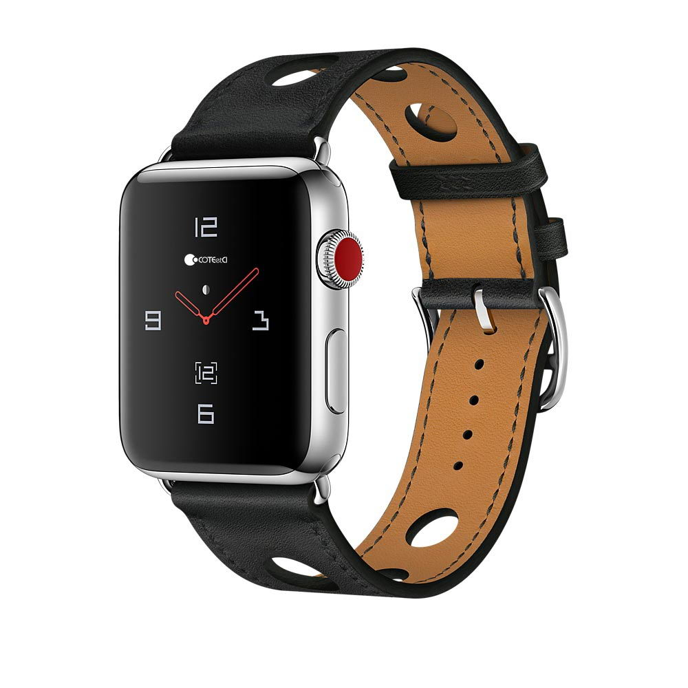 COTEetCI Fashion W15 Leather for Apple Watch 38mm Black (WH5220-BK)