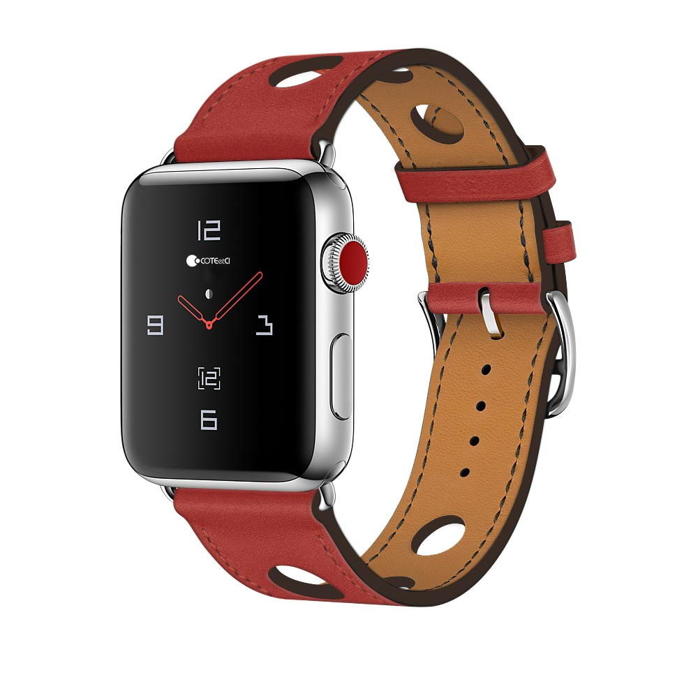 COTEetCI Fashion W15 Leather for Apple Watch 42mm Red (WH5221-RD)
