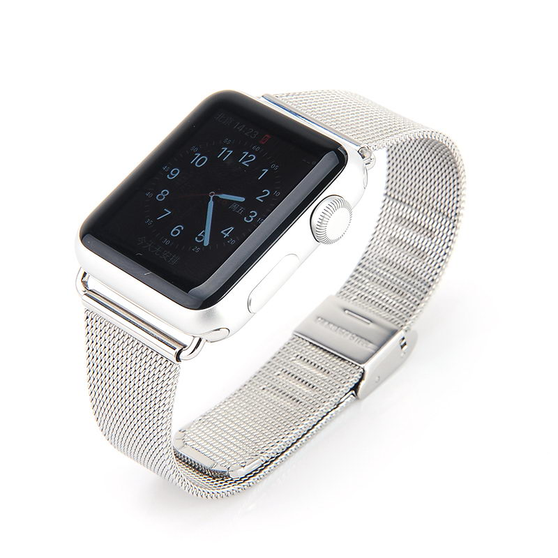COTEetCI W2 Milanese Band for Apple Watch 38mm Silver