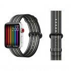 COTEetCI W30 Rainbow Nylon Band For Apple Watch 42mm Black-Grey (WH5251-BG)
