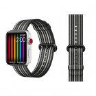 COTEetCI W30 Rainbow Nylon Band For Apple Watch 42mm Black-Grey (WH5251-BG)