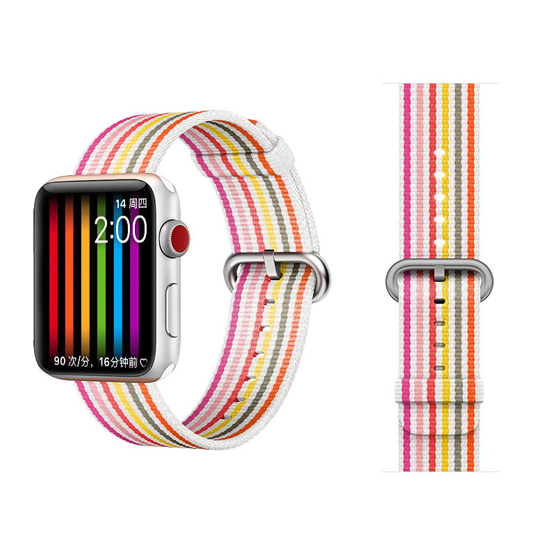 COTEetCI W30 Rainbow Nylon Band For Apple Watch 42mm Pink (WH5251-WP)
