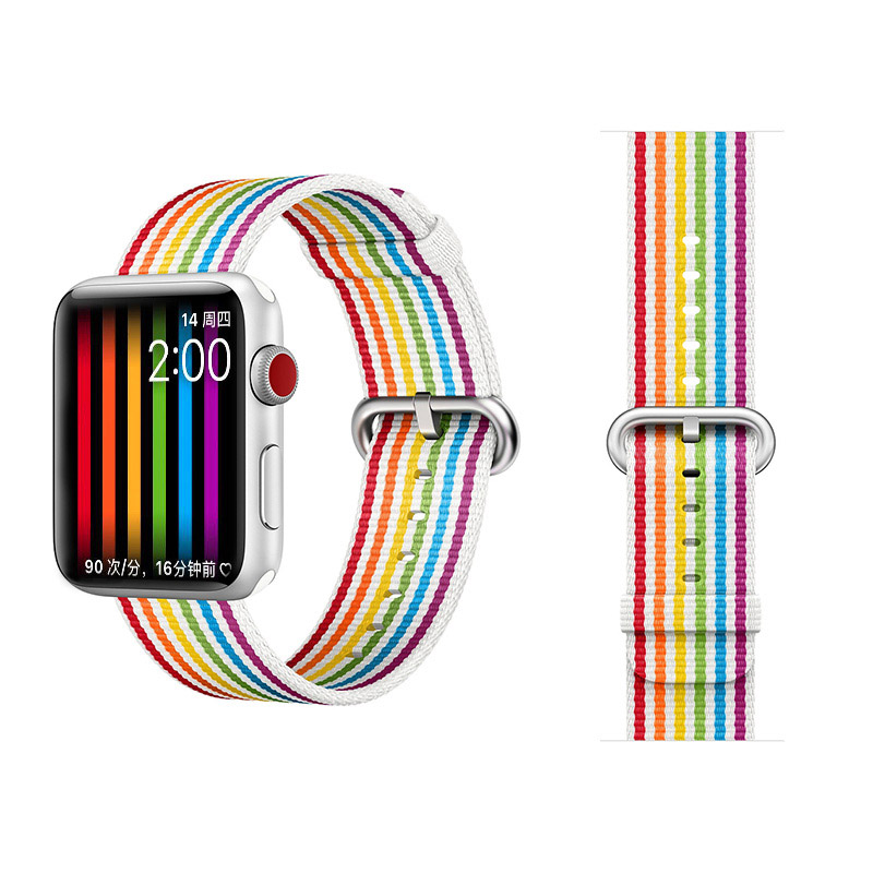 COTEetCI W30 Rainbow Nylon Band For Apple Watch 42mm Rainbow (WH5251-RB)