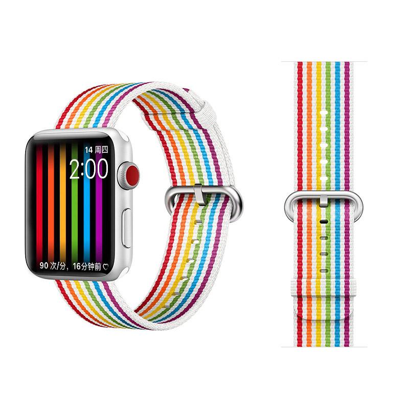 COTEetCI W30 Rainbow Nylon Band For Apple Watch 38mm Rainbow (WH5250-RB)
