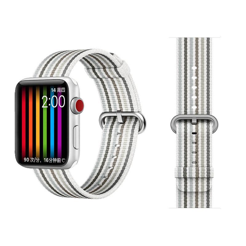 COTEetCI W30 Rainbow Nylon Band For Apple Watch 38mm White-Grey (WH5250-WG)