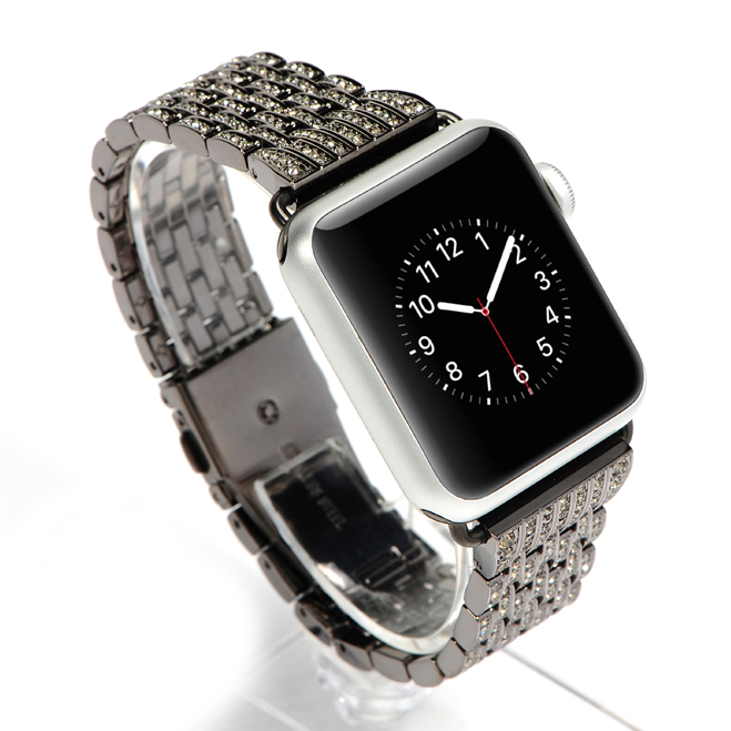 COTEetCI W4 Magnificent Watchband For Apple Watch 38mm Black (CS2087-BK)