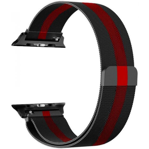 COTEetCI W6 Magnet Band for Apple Watch 38/40mm Black With Red (WH5202-BR)