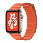 Coteetci W7 Leather Magnet Band For Apple Watch 42mm/44mm Orange (WH5206-OR)