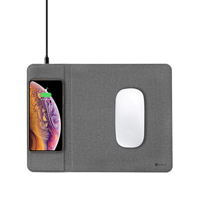 COTEetCI Wireless Charger And Mouse Pad Grey (CS5186-GY)