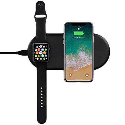 Coteetci WS-7 Phone & Apple Watch Wireless Charger Black (CS5160-BK)
