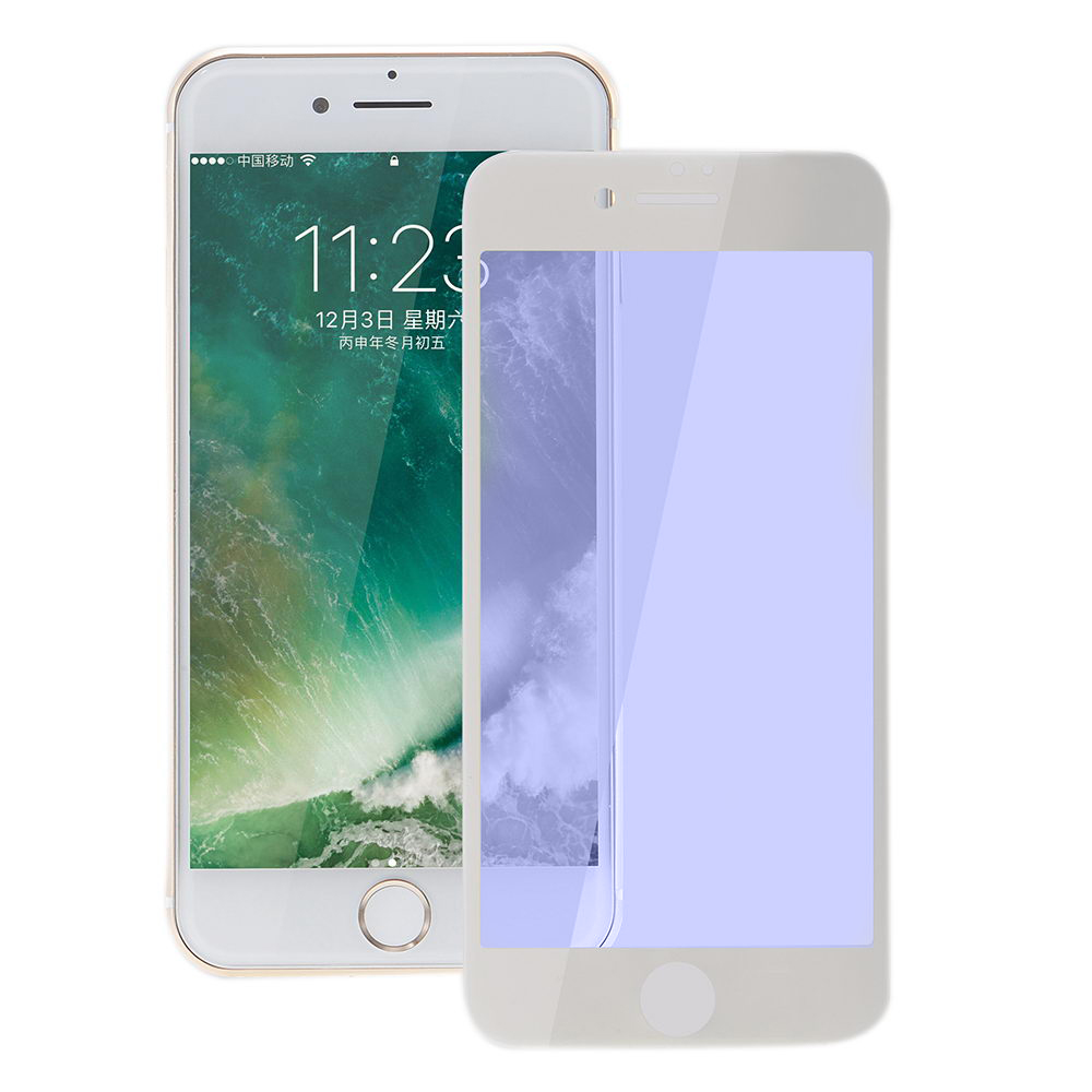 COTEetCI Glass silk screen printed full-screen for iPhone 7 Plus (blu-ray) GS7106-WH-BL