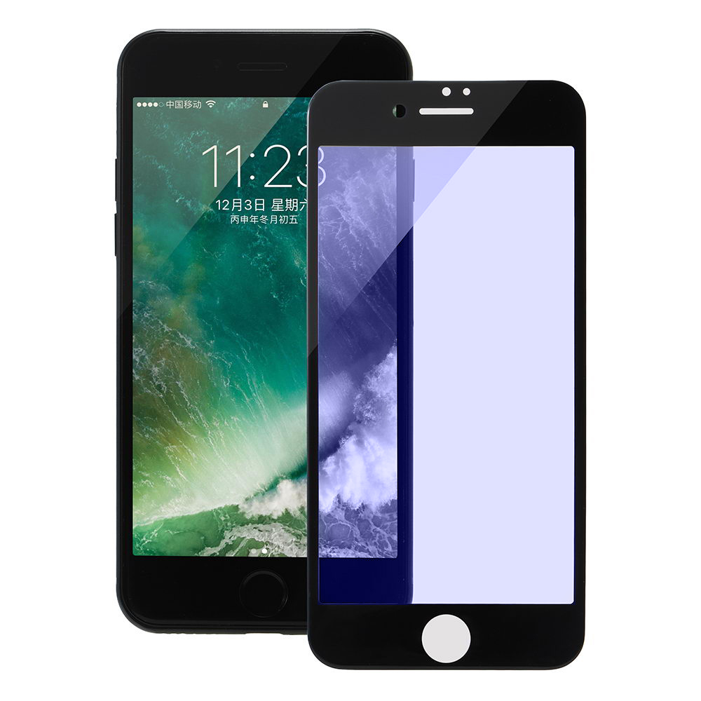 COTEetCI Glass silk screen printed full-screen for iPhone 7 (blu-ray) GS7107-BK-BL