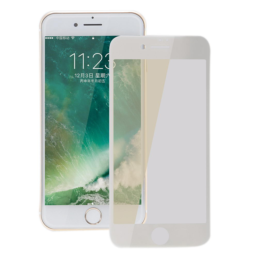 COTEetCI Glass silk screen printed full-screen for iPhone 7 white (GS7105-WH-WH)