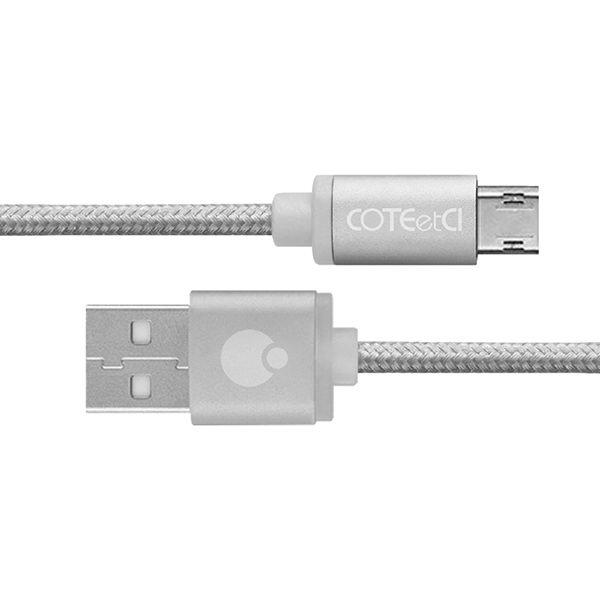 COTEetCI M23 NYLON Micro Cable 1.2m Silver (CS2131-1.2M-TS)
