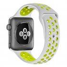 COTEetCI W12 Apple Watch Nike band 38mm Grey/Yellow (WH5216-TS-YL)
