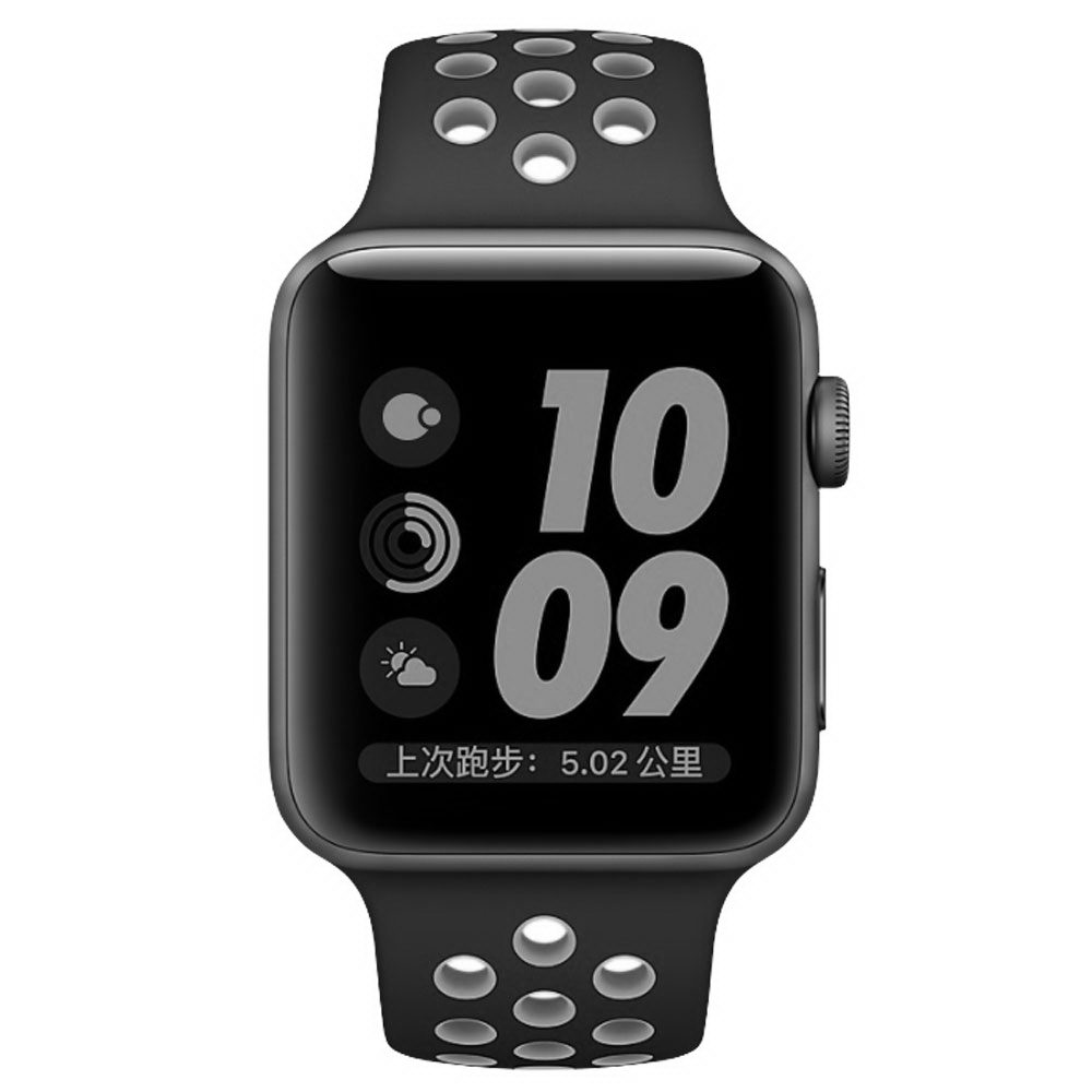 COTEetCI W12 Apple Watch Nike band 38mm Black/Grey (WH5216-BK-GY)