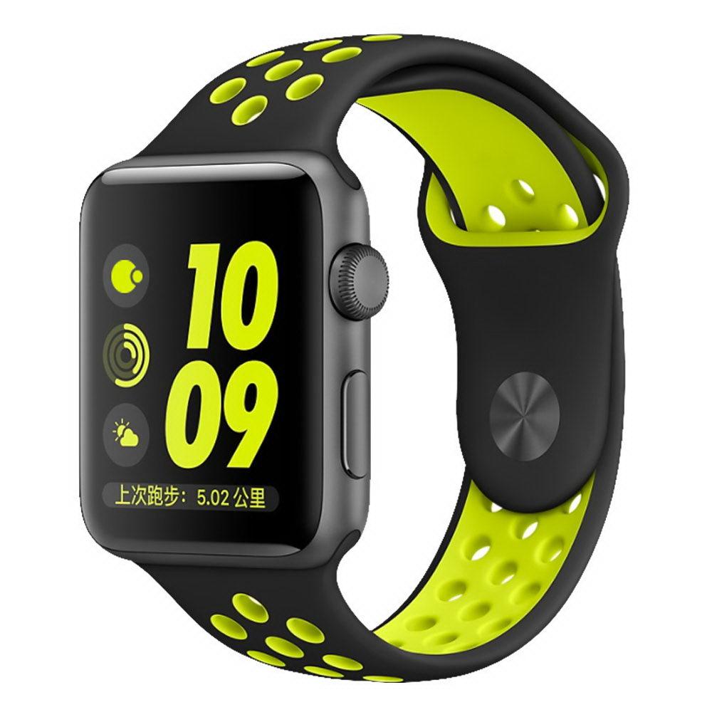 COTEetCI W12 Apple Watch Nike band 38mm Black/Yellow (WH5216-BK-YL)