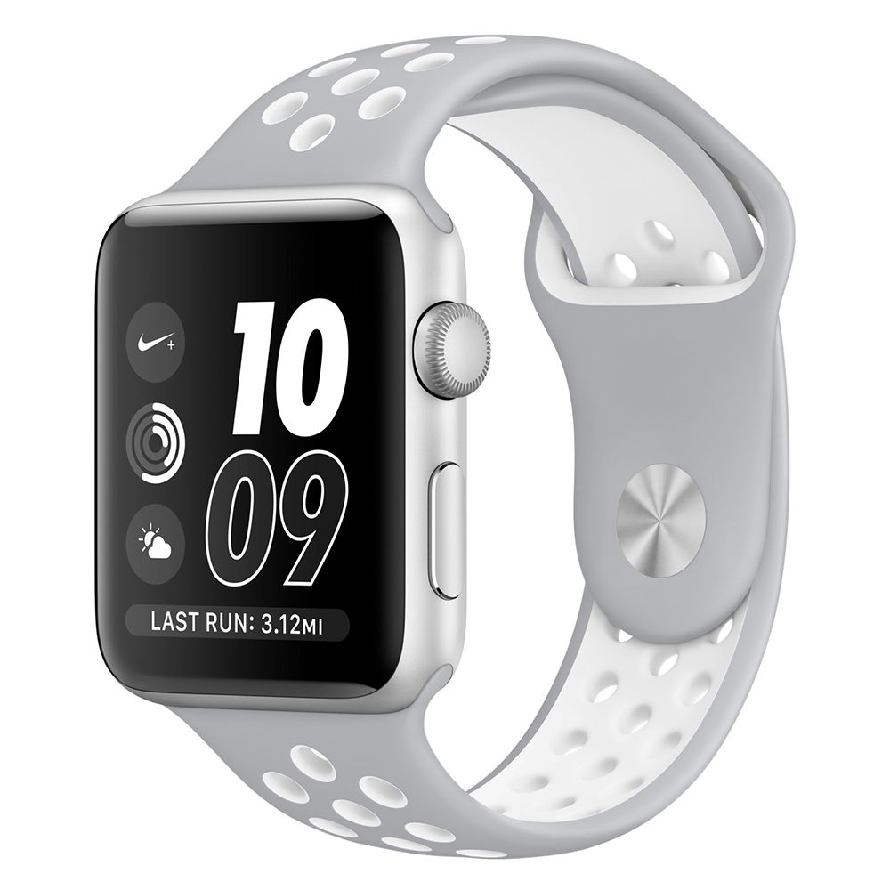 COTEetCI W12 Apple Watch Nike band 42mm Grey/White (WH5217-TS-WH)