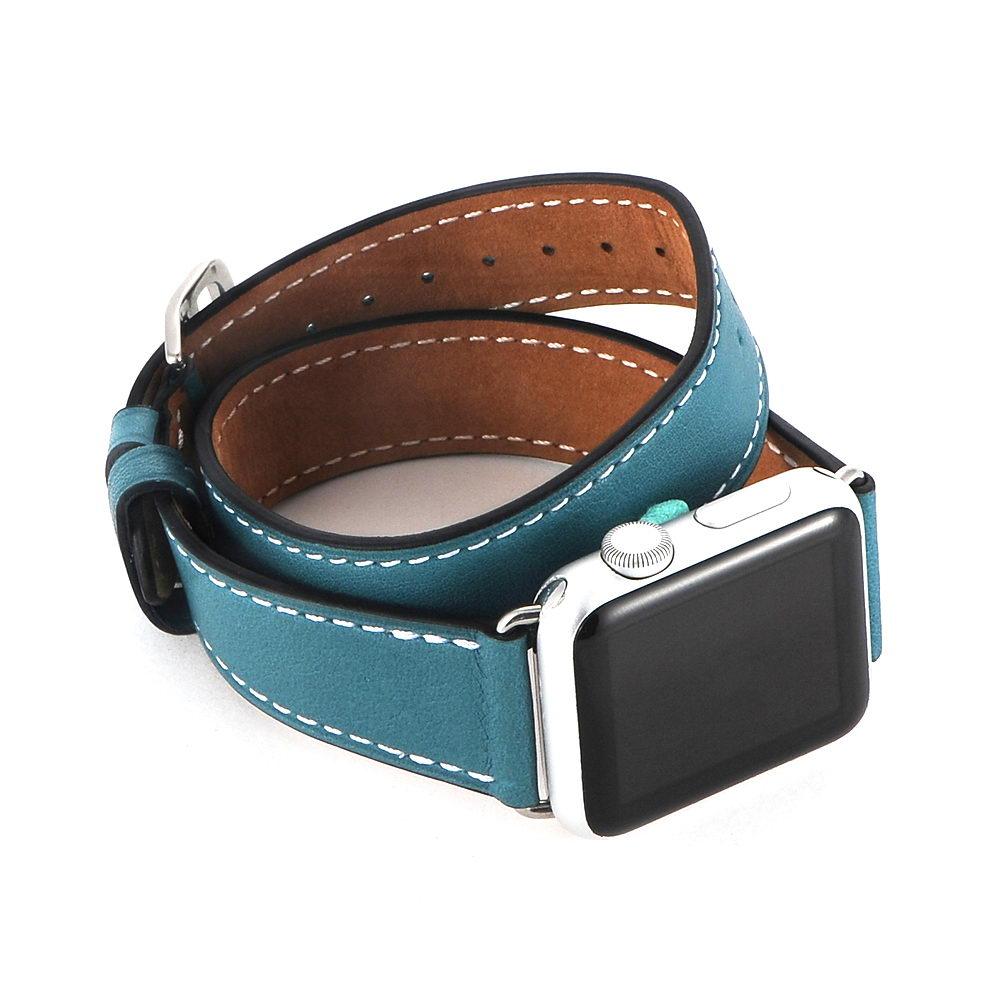 COTEetCI W9 Apple Watch LEATHER 42MM Blue