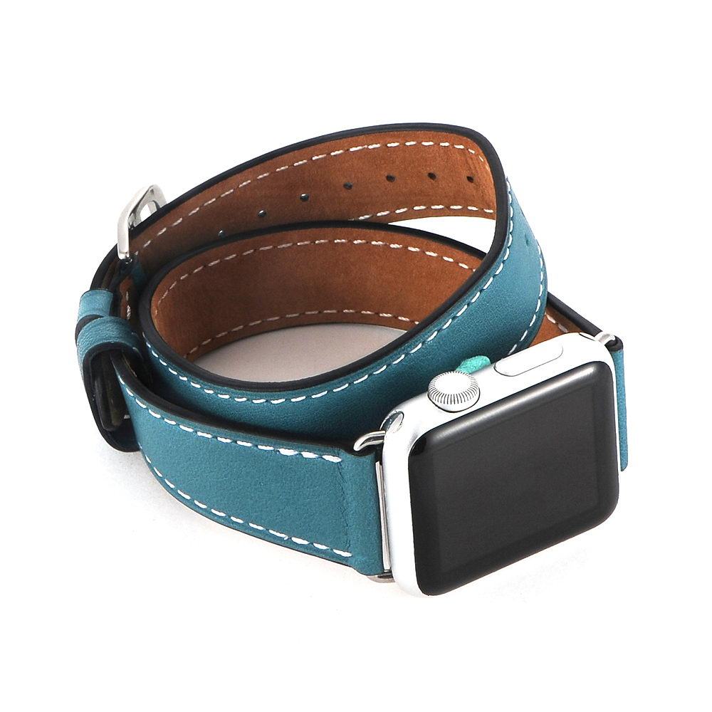 COTEetCI W9 Apple Watch LEATHER 42MM Blue