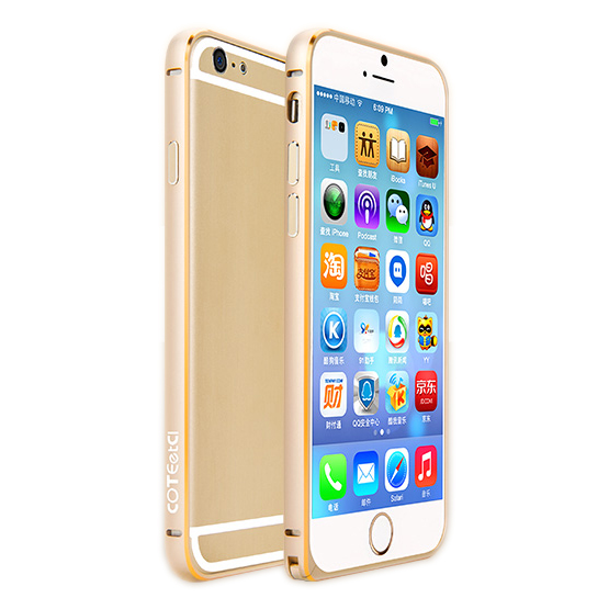 Coteetci Aluminum Bumper Gold for iPhone 6/6S