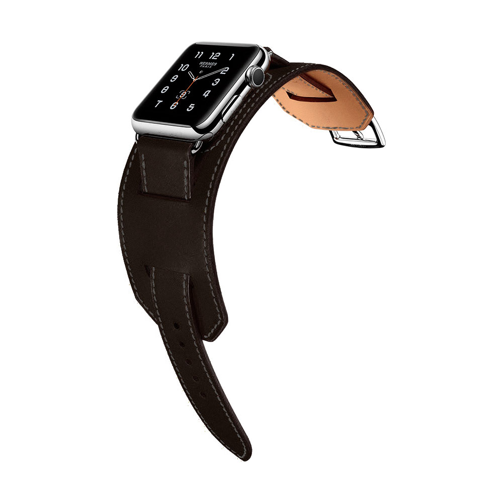 COTEetCI W10 Fashion Leather Band for Apple Watch 38mm Gray (WH5211-GY)