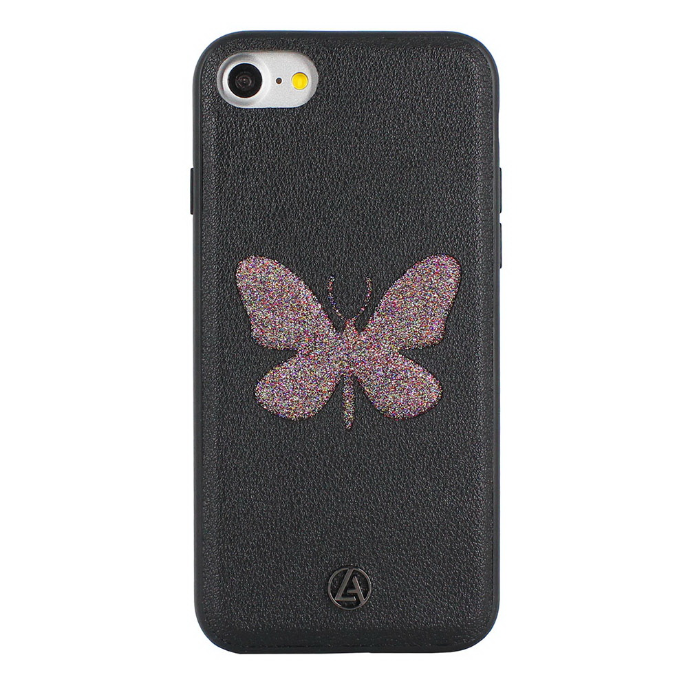 Luna Aristo Farfalla for iPhone 7/8/SE 2020 Dusky-Wing Black (LA-IP7BTF-BLK)