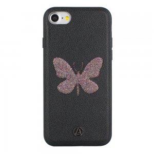 Luna Aristo Farfalla for iPhone 7/8/SE 2020 Dusky-Wing Black (LA-IP7BTF-BLK)