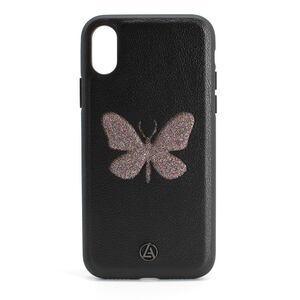 Luna Aristo Farfalla for iPhone X/XS Dusky-Wing Black (LA-IPXBTF-BLK)