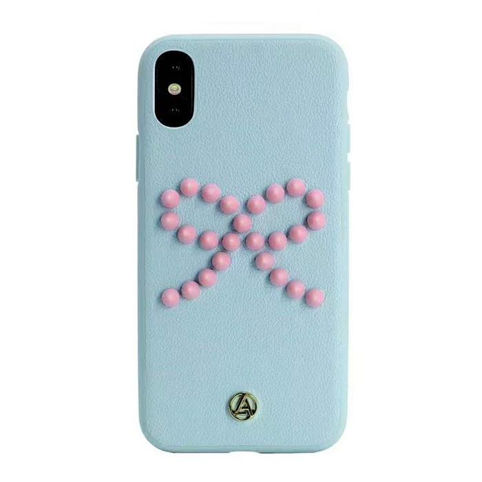 Luna Aristo Prima Donna for iPhone X/XS Blush Blue (LA-IPXBOW-BLU)