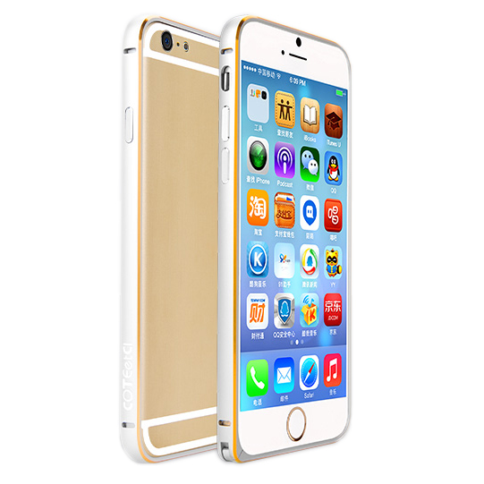 Coteetci Aluminum Bumper Silver for iPhone 6 4.7""