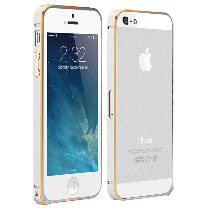 Coteetci Aluminum Bumper bolted with etching Silver for iPhone 5/5S (CS1323TS)