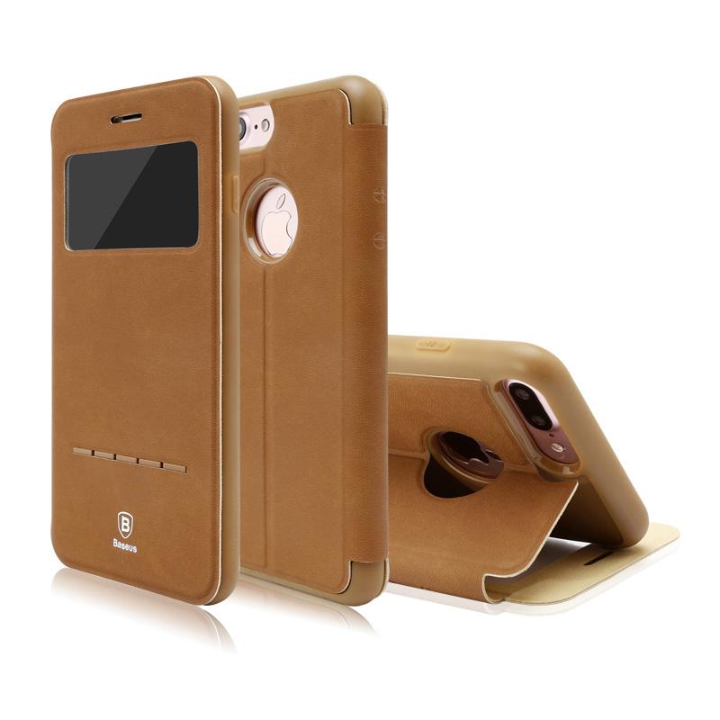 Baseus Simple Series Leather Case iPhone 7 Plus Brown