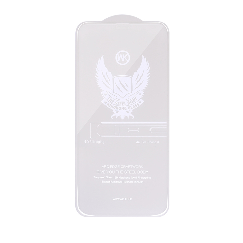 WK Kingkong 4D Curved Tempered Glass White For iPhone 6/6S (WTP-010)