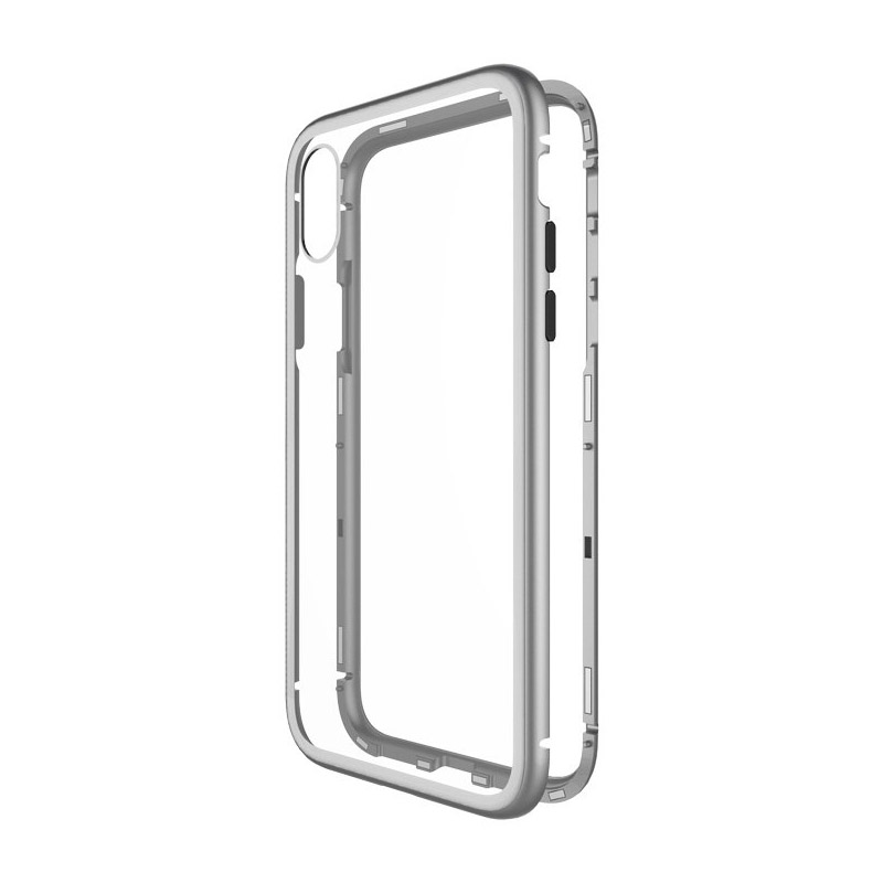WK Design Magnets Case For iPhone XR Silver (WPC-103)