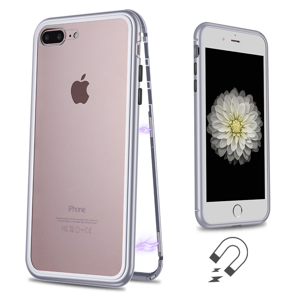 WK Design Magnets Case For iPhone 7 Plus/8 Plus Silver (WPC-103)