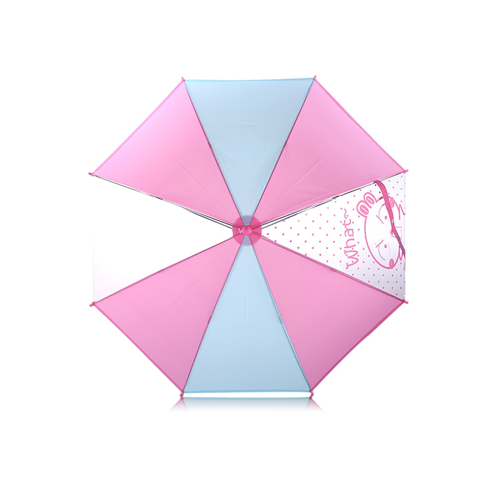 WK Design Safe Children Umbrella Pink (WT-U6)