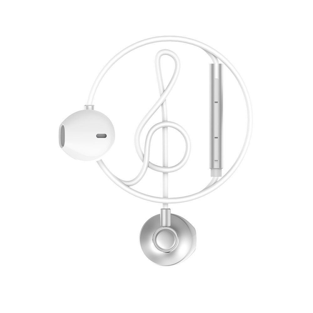 WK Wired Earphone Silver (WE300)