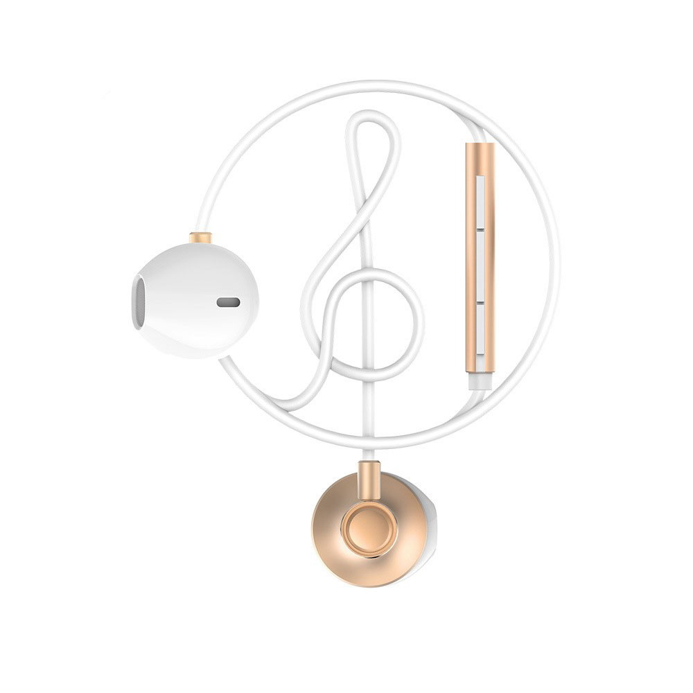 WK Design Wired Earphone Gold (WE300GD)